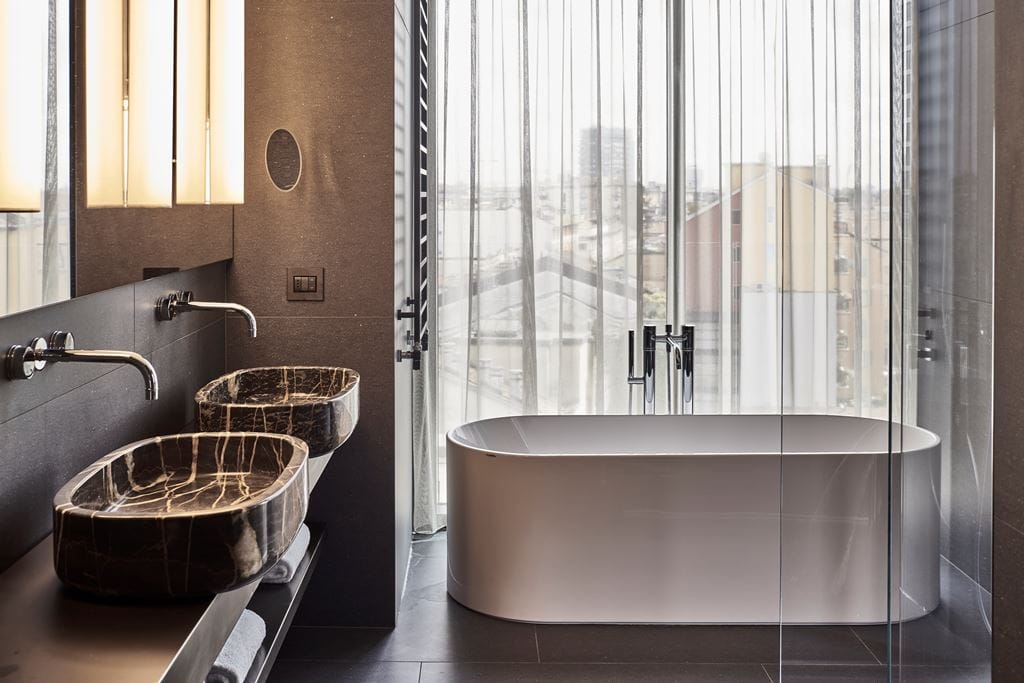 talk with diego novarino general manager hotel viu bathroom